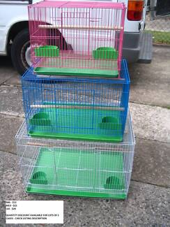 NEW SQUARE BIRD CAGES- FROM $12 EACH- 3 SIZES &COLOURS-READ AD!!