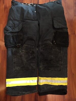 Firefighter Janesville Lion Apparel Turnout Bunker Pants 44x30 Black Costume