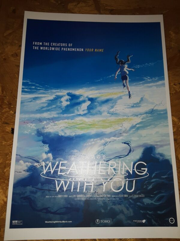 Weathering With You / Tenki no Ko Movie USA Theatrical Release Promo Poster