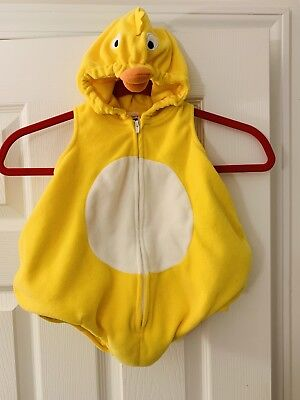 CARTERS YELLOW DUCK DUCKY CHICK PLUSH WARM HALLOWEEN COSTUME INFANT 6 MONTHS - Baby Chick Costumes