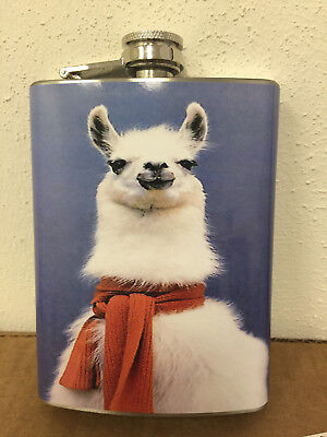 Special Order Bottles - Special Order Llama Flask 8oz Stainless Steel Hip Drinking Whiskey Rum