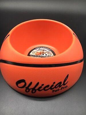 REMARKABOWL Pet Dog Cat Pro Bowl MEDIUM Basketball Food Dish Dishwasher Safe NEW
