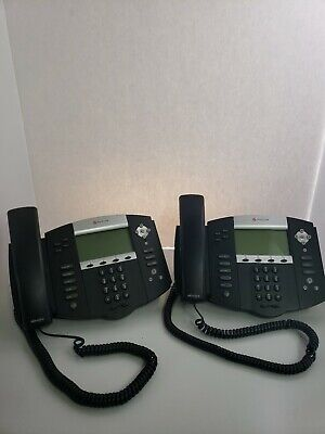 Polycom Soundpoint Ip550 Sip Digital Telephone Lot Of 2