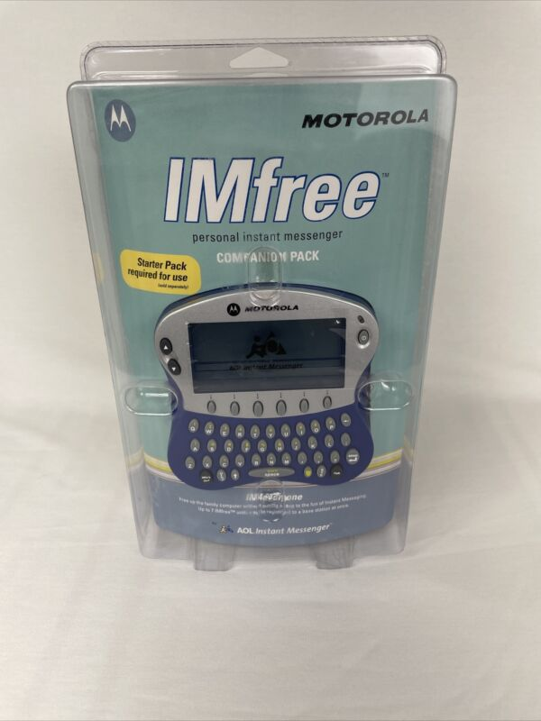 Motorola MX240a IMfree Personal Instant Messanger - New Sealed Vintage