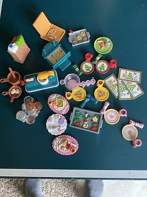 Fisher Price Dollhouse Chocolate Chip Cookies Pizza Food Mixer Food Dish Lot