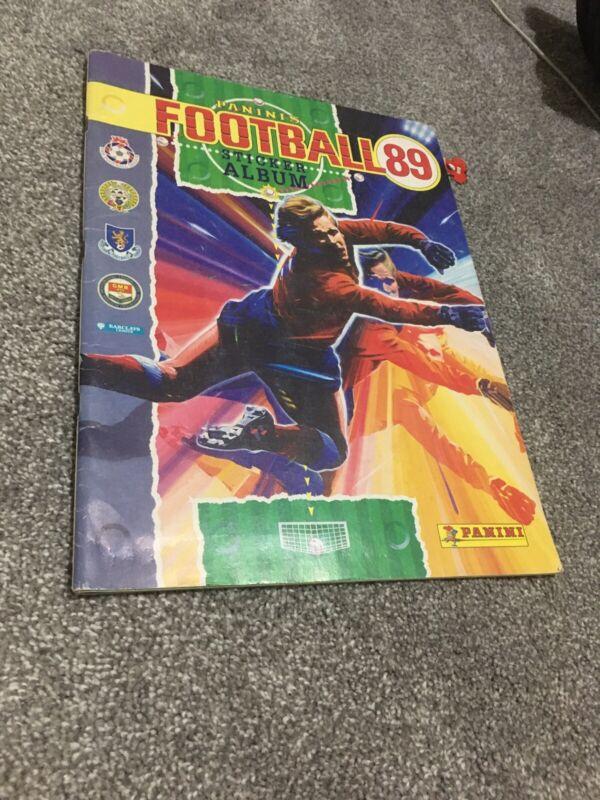 Football 89 Panini Sticker Album Division 1 Empty Excellent Condition
