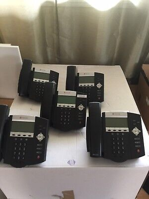 Lot Of 10 Polycom Soundpoint Ip 450 2201-12450-001 Office Phones
