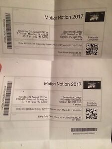 MOTION NOTION TICKET!!! INCLUDES EVERYTHING!
