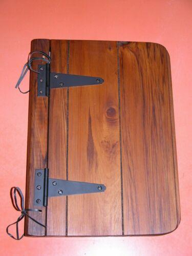 Rimu Wooden Photo Album In Original Box Metal Hinges Handmade New Old Stock Wood