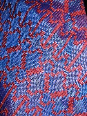 1960s – 70s Men's Ties | Skinny Ties, Slim Ties Vintage 1960's Mens Necktie Tie 100 % Acetate Vtg Deep Blue Red Color Shift  $7.99 AT vintagedancer.com