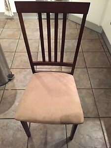 4 x wooden/suede dining chairs Wallsend Newcastle Area Preview