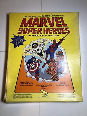 Marvel Super Heroes Basic Set - The Heroic Role-Playing Game - Free Shipping!