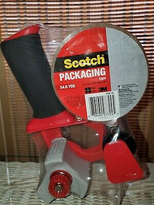 New Sealed Scotch 3m Packaging Tape Gun Dispenser 1 Roll Of Heavy Duty Tape