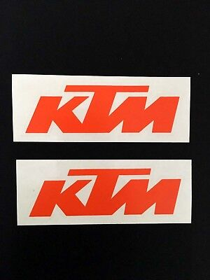 KS023 KTM Sticker transparent Orange 2xAufkleber Original Supermoto Cross Enduro