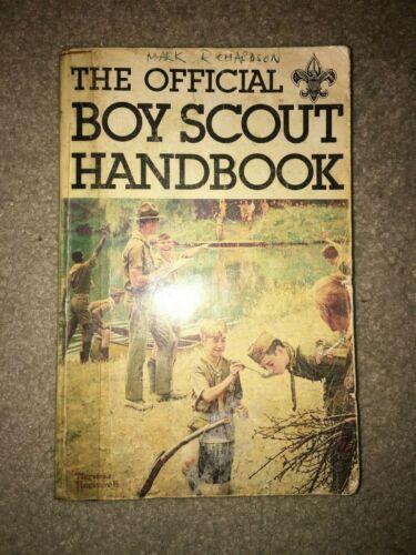 Boy Scout BSA 9th Edition First 1st Print FEB 1979 Rockwell Cover Handbook Book