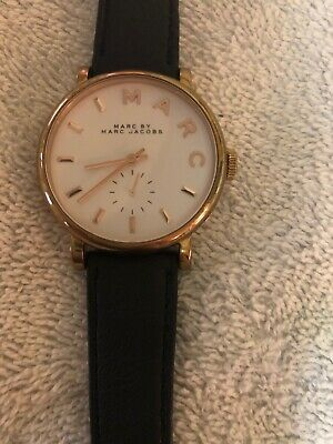 Marc Jacobs Watch MBM1283 for Women Ladies Leather Rose Gold 36mm Baker!