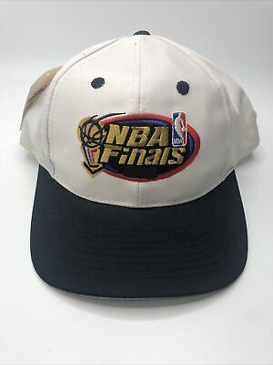 VTG 90s NBA Finals Men's Snapback Hat Cap Logo 7 White and Black New with Tags