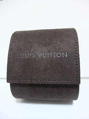 Louis Vuitton Brown Travel Watch Case Storage Box Authentic Suede
