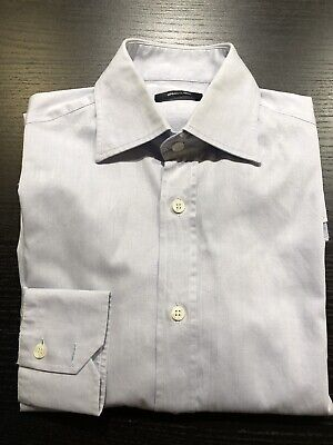 VERSACE CLASSIC Dress Shirt 15 38 Blue MADE IN ITALY for Suit 40 Button Up