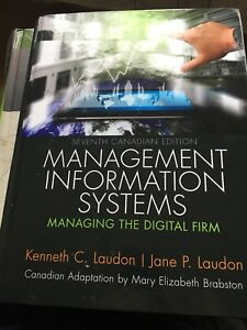 Textbook- Management Information Systems