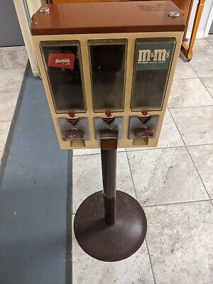 Triple Head Gumball Candy Vending Machine with Stand