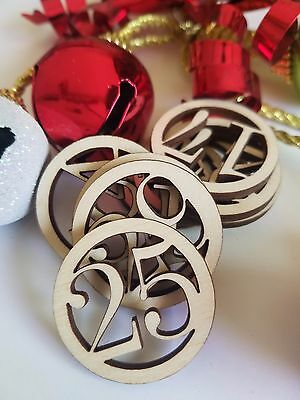 Advent Calendar Circle Number Wooden Cut Outs ( Advent Numbers )