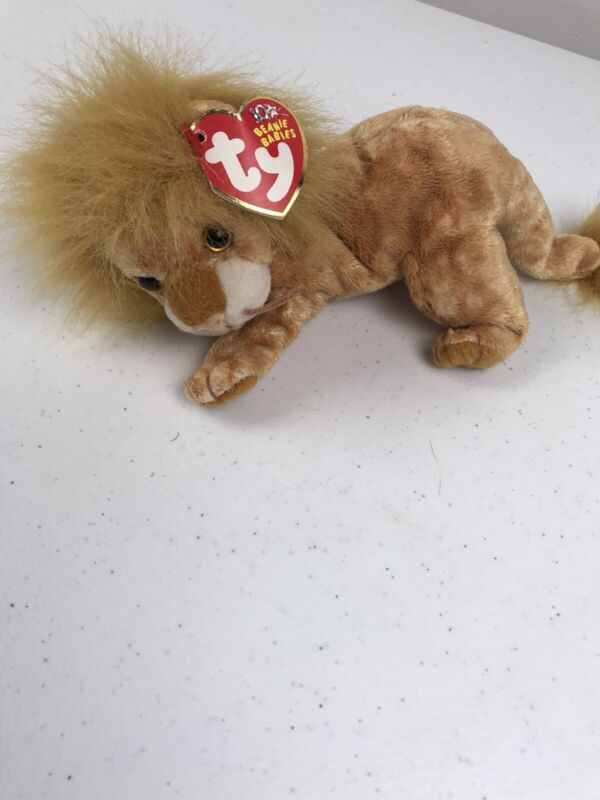 TY Beanie Baby - ORION the Lion (7.5 inch) - MWMTs Stuffed Animal Toy