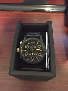 Nixon 51-30 black gold watch Woodvale Joondalup Area Preview