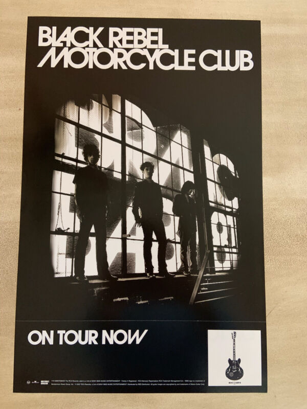 """Black Rebel Motorcycle Club """" Baby 81 """" Promo Poster, Double Sided"""