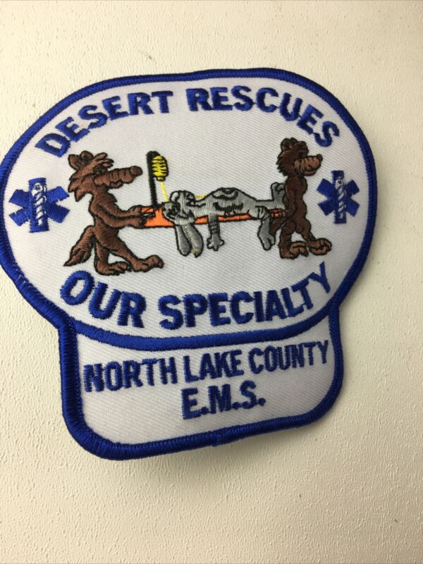 North Lake County E.M.S. Desert Rescues Patch