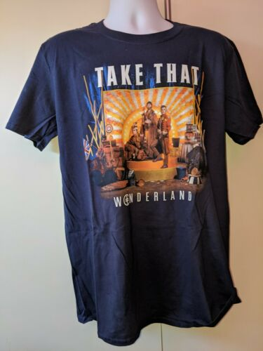 Take That Wonderland Live 2017 (Blue) T-Shirt - Large - New, unworn