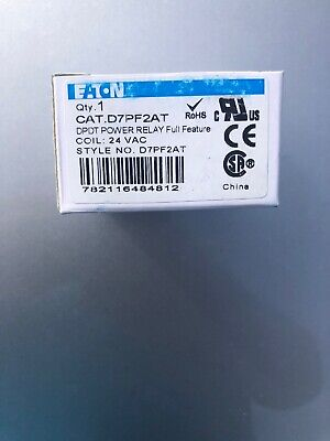 Eaton Dpdt Power Relay Full Feature D7pf2at 24 Vac