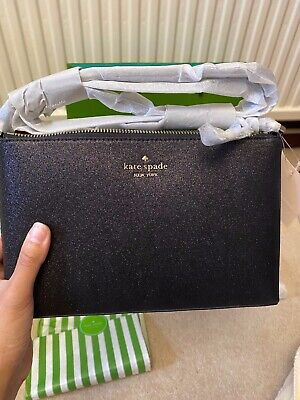 *BNWT* Kate Spade Black Glitter Crossbody bag- All still gift wrapped! RRP £135