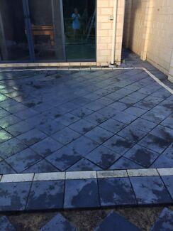 Paving charcoal concrete free