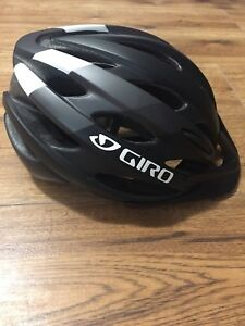 Giro black bike helmet.