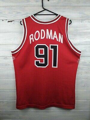5b71891a Rodman Chicago Bulls basketball jersey large NBA shirt Champion