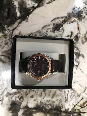 Bulova Precisionist Quartz 98b267 Men's Rose Gold High Frequency Movement Watch