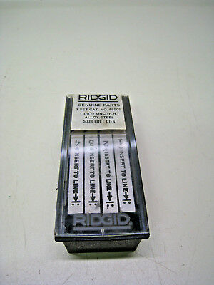 Ridgid 48505 1-18 - 7 Unc Alloy Steel Rh 500b Bolt Threading Dies New