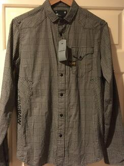 BNWT G-Star Raw Men's New Marshall LS Shirt - Size M RRP $179.95