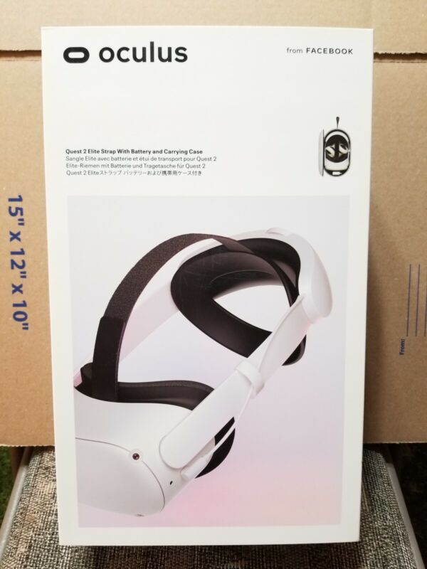 Oculus Quest 2 Elite Strap w/ Battery & Carrying Case Brand New Sealed In Hand!