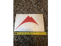 """MSR  Red Black Sticker//Decal Outdoor Hiking Backpack Approx 5"""" New"""