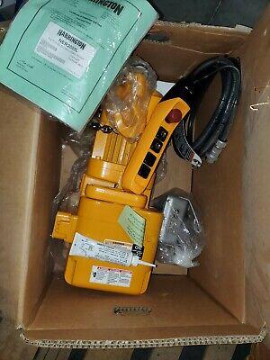 Harrington Ner005l 12 Ton Electric Chain Hoist 460v