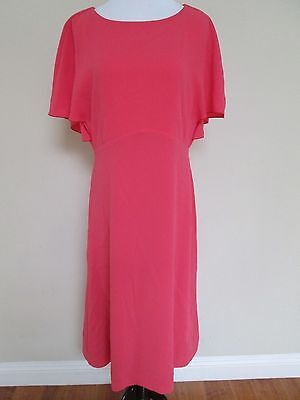 NWT Auth Max Mara Relax Pink Flutter Sleeve Back Shift Dress Sz 46 US 12 $1275