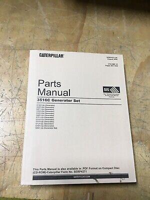 Caterpillar Cat Parts Manual Generator Set 3516c - Sebp4371-09 Volume Ii
