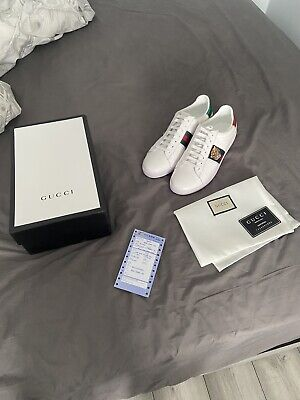 Gucci Ace Sneakers, Tiger Embroidery, UK9