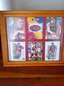 Darryl white framed cards signed Deakin South Canberra Preview