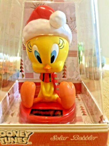"LOONEY TUNES TWEETY CHRISTMAS SOLAR BOBBLER 5"" NIP"