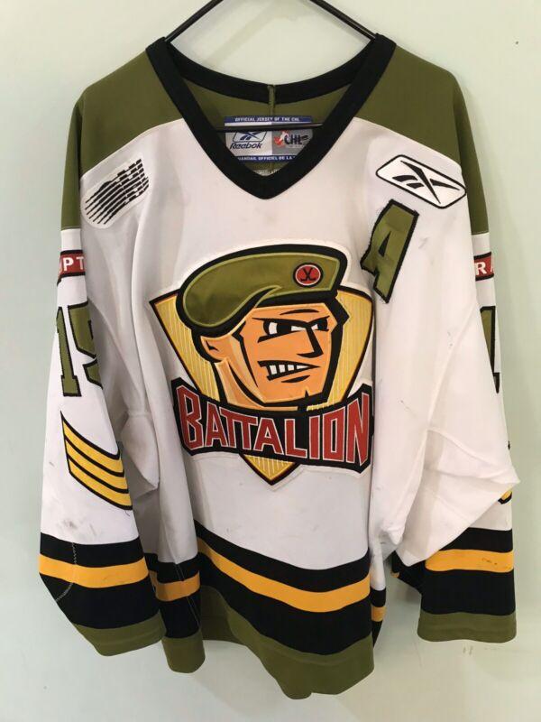 ▪️Luke Lynes - 2005/2006 Brampton Battalion OHL CHL Game Used Worn Hockey Jersey