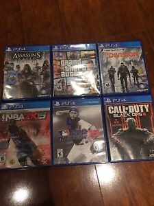 6 PS4 games for sale