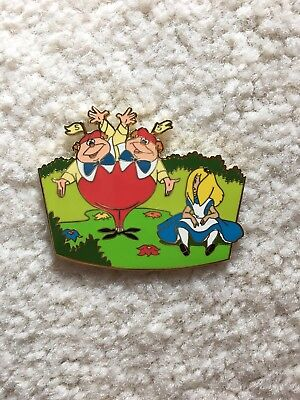 ULTRA RARE Tweedle Dee/Tweedle Dum/ with Alice Disney Pin LE 250